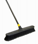 Quickie Mfg 00533 Bulldozer Push Broom, Soft Sweep, Polypropylene Fibers, Black Handle, 24-In.