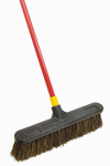 Quickie Mfg 00541 Stiff Palmyra Pushbroom, 18-In.