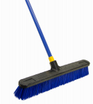 Quickie Mfg 00599 Stiff Polymyra Pushbroom, 24-In.