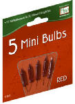 Noma/Inliten-Import 1115-3-88 Christmas Lights Replacement Bulb, For 50, 100 & 150-Light Sets, Red, 2.5-Volt