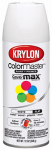 Krylon Diversified Brands K05150202 Colormaster Spray Paint, Indoor/Outdoor Use, Flat White, 12-oz.