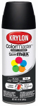 Krylon Diversified Brands K05160202 Colormaster Spray Paint, Indoor/Outdoor Use, Flat Black, 12-oz.