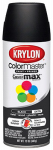 Krylon Diversified Brands K05161302 Colormaster Spray Paint, Indoor/Outdoor Use, Satin Black, 12-oz.