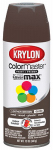 Krylon Diversified Brands K05250102 Colormaster Spray Paint, Indoor/Outdoor Use, Gloss Leather Brown, 12-oz.