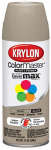 Krylon Diversified Brands K05250402 Colormaster Spray Paint, Indoor/Outdoor Use, Gloss Khaki, 12-oz.