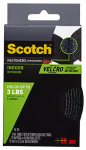 3M RF7741 1x4' Black Reclose Strip