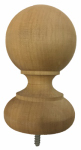 Bw Creative Wood Indoor Intl CE7060000W Ball Top Post Cap, Cedar