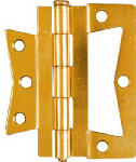 National Mfg/Spectrum Brands Hhi N244-822 2-Pack 4 x 4-Inch Brass Non-Mortise Hinges