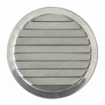 Construction Metals ML2 Mini Round Louvers 2 In. Aluminum