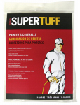 Trimaco 09901 White Disposable Coverall, M