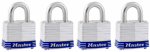 Master Lock 3008D 4-Pack 1-1/2 Inch Keyed-Alike Laminated Padlocks