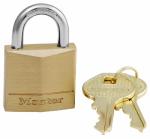 Master Lock 130D 1-3/16 Inch Solid-Brass Body Pin Tumbler Padlock