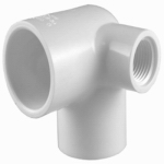 Genova Products 33105 1/2 WHT Side Inlet Ell