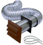Lambro Industries 1379B Louvered Hood Vent Kit, 4-In. x 8-Ft., Brown