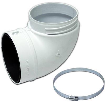 3003L Dryer Quick Fit Elbow, Plastic, 4-In.