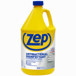 Zep ZUBAC128 Antibacterial Disinfectant Cleaner, Lemon Scent, 1-Gal.