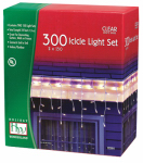 Noma/Inliten-Import 14084W-88 Christmas Icicle Light Set, Clear, 300 Lights