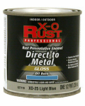 True Value Mfg XO25-HP Oil Base Paint, Gloss, Light Blue, Interior/Exterior, 1/2-Pt.