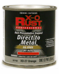 True Value Mfg XO27-HP Oil Base Paint, Gloss, Orange, Interior/Exterior, 1/2-Pt.