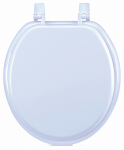 Sunstone International 100-WHT-RD 17-Inch White Wood Toilet Seat
