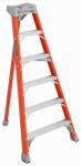 Louisville Ladder FT1006 6-Ft. Tripod Step Ladder, Fiberglass, Type IA, 300-Lb. Duty Rating