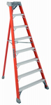 Louisville Ladder FT1008 8-Ft. Tripod Step Ladder - Fiberglass Type IA  300-Lb. Duty Rating