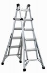 Louisville Ladder L-2098-22 22-Ft. Multi-Purpose Ladder, Aluminum, Type IA, 300-Lb. Duty Rating