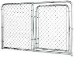 Stephens Pipe & Steel DKS20604 6 x 4-Ft. Dog Kennel Gate Panel, Silver Series