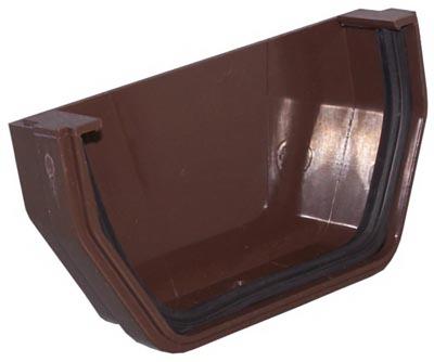 RB102 Gutter Outside End Cap, Brown Vinyl - Quantity 1