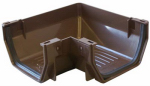 Genova Products RB103 Gutter Corner, Brown Vinyl, Both Inside & Outside