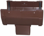 Genova Products RB104 Gutter Drop Outlet, Brown Vinyl