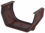 Genova Products RB105 Gutter Slip Joint, Brown Vinyl