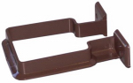 Genova Products RB202 Gutter Downspout Bracket, Brown Vinyl