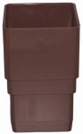 Genova Products RB203 Gutter Downspout Coupler, Brown Vinyl