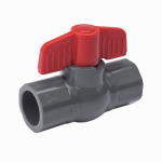 B&K 107-604 Solvent Ball Valve, Gray PVC, 3/4-In.