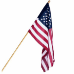 Annin Flagmakers 031800R U.S. Flag Set, Polycotton, 5-Ft. Wood Pole, 2.5 x 4-Ft.