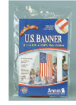 Annin Flagmakers 021880R 2-1/2 x 4-Ft. Polycotton U.S. Banner