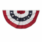 Annin Flagmakers 483200R U.S. Fan Flag, Pleated Polycotton, 3 x 6-Ft.