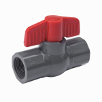 B&K 107-108 Threaded Ball Valve, Gray PVC, 2-In.