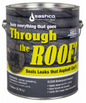 Sashco Sealants 14024 Through The Roof Sealant, Clear, 1-Gal.
