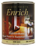 True Value Mfg 0390-QT Polyurethane Varnish, Interior, Satin, 1-Qt.