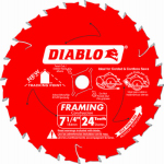 Freud D0724X Diablo Framing Blade, 7.25-In., 24-Teeth