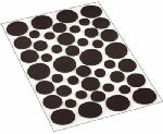 Shepherd Hdwe Prod 9425 46-Count Assorted Brown Round Pads