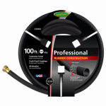 Teknor-Apex 8650-100 Rubber Garden Hose, Black, 5/8-In. x 100-Ft.