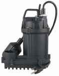 Flint & Walling/Star Water 540494 Sump Pump, Tethered Float Switch, Cast Iron, 1/3-HP Motor