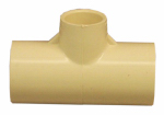 Genova Products 51471 Pipe Fittings, CPVC Tee, 3/4 x 3/4 x 1/2-In.