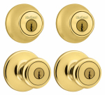 Kwikset 242T 3 CP 6AL K2 Security Combination Lockset, Brass