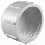 Genova Products 30162 Threaded Cap, White, 2-In.