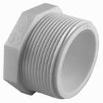 Genova Products 31810 PVC Pressure Pipe Fitting,Plug, White PVC, 1-In.