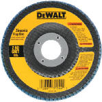 Dewalt Accessories DW8302 4-In. 60-Grit Zirconia Flap Disc